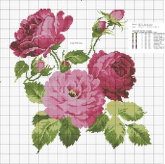 This Pin was discovered by Zeh Funny Cross Stitch Patterns, Cross Stitch Love, Cross Stitch Flowers, Cross Stitch Charts, Cross Stitch Designs, Cross Stitching, Cross Stitch Embroidery, Crochet Cross, Bunch Of Flowers
