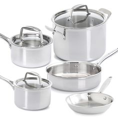 Stainless Cookware 8-Piece Set - life time guarantee, oven and broiler safe - dishwasher safe www.pamperedchef.com/doinaheinz