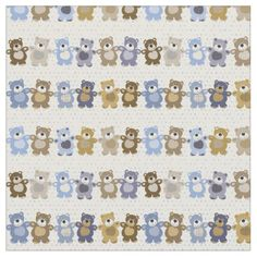 pattern of a toy teddy bear fabric - click/tap to personalize and buy