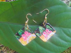soda can jewelry Hawaiian earrings gift for mom by Soda2Art