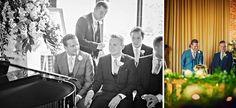 Beautiful #wedding at The Barn at Bury Court.#Groom and #bestman waiting in the #weddingbarn.
