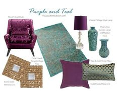 Purple And Teal Room Collection This Would Be So Fun With Pea Décor As Well