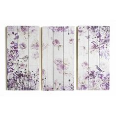 Graham & Brown Summer 2015 Birds and Butterflies 3 Piece Painting Print on Wrapped Canvas Set