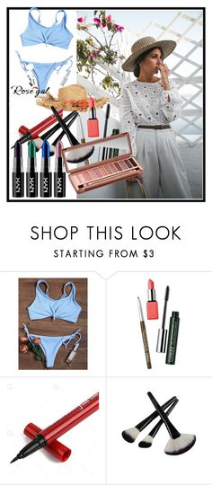 """Rosegal"" by kemo-dlii ❤ liked on Polyvore featuring Clinique and Urban Decay"