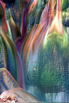 Rocks of Fly Geyser, Nevada