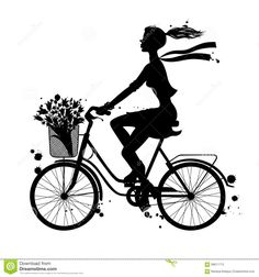 девушка с велосипедом силуэт: 16 тыс изображений найдено в Яндекс.Картинках