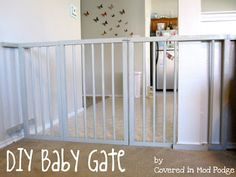 Covered in Mod Podge: DIY Baby Gate {or my husband calls it a baby cage}