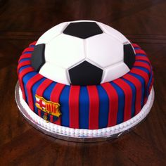 FC Barcelona Cake Barcelona Cake, Barcelona Party, Make Birthday Cake, 9th Birthday Parties, Birthday Ideas, Football Birthday, Custom Cakes, Soccer Ball, Best Part Of Me