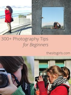 300+ Photography tips for beginners. Photography tips for DSLRs, smartphones, and point and shoot cameras, to help you take beautiful pictures for your blog.