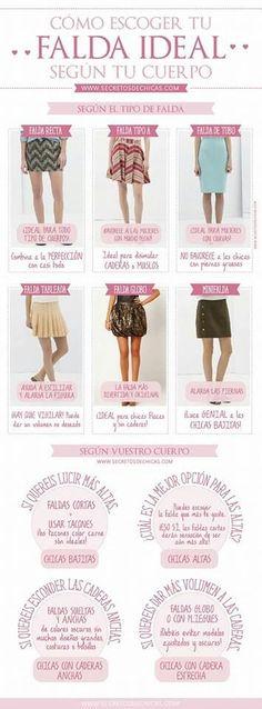 Para elegir bien las faldas q nis favorecen según nuestro tipo de cuerpo