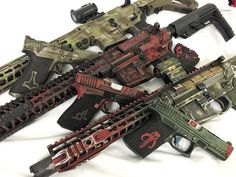 Coordinated pistol and carbine paint jobs
