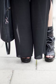 Sheer Acne pants and Hope shoes #streetstyle