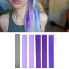 Best Lilac Ombre DIY Hair Dye   LAVENDER hair chalk set of 6   Temporary Ombre Lilac HairChalk Kit