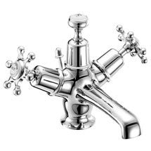 Burlington Birkenhead Basin Mixer Tap with Ceramic Indice & Pop Up Waste - BI4 Medium Image