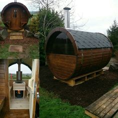 Outdoor Sauna, Sauna Ideas, Saunas, Barrels, Space, Wood Workshop, Floor Space, Steam Room, Spaces