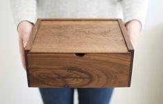 World Map Wooden Box Wood Photo Box Keepsake Box by Wayfaren