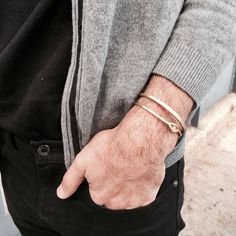 Excited to share the latest addition to my #etsy shop: Bracelet Set, Men's Jewelry, Gift For Him, Bracelets for Him, Men's Bangle, Brass Bangles, Mens Bracelet, Adjustable Bracelet, Open Bracelet #jewelry #bracelet #bronze #yes #men #brass #minimalist #braceletset #mensjewelry