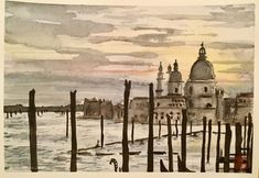 """Venice"" (with Schmincke Horadam on 300mgs Arches paper)"