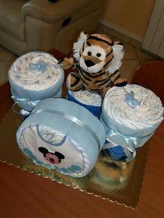 Torta di pannolini diaper cake batteria