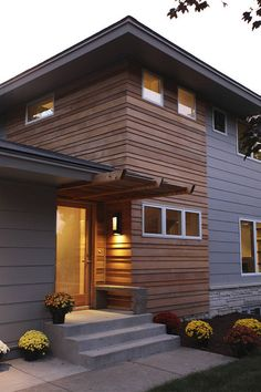 we remodeled this entire home keeping only a few walls to comply with setback requirements the exterior is a combination of clear shiplap cedar stone