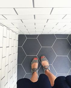 Epic Hex subway contrasting grout ud everything amazing Btw does anyone else feel