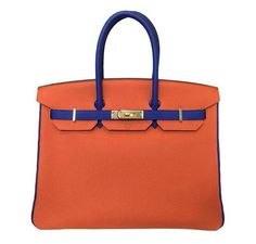 d6e379f8b5f7 Hermès Birkin 35 Blue Orange - Special Order HSS Bag