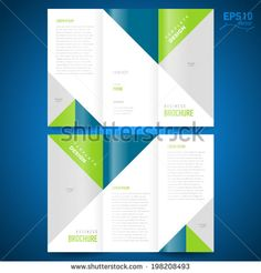 brochure design template triangles figure, frame for images - stock vector