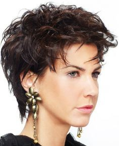Short chunky hairstyles for thick curly hair   Round Faces And Short Hairstyles photo