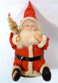 antique santa candy container