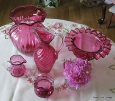Rose Chintz Cottage: Cranberry Glass for Pink Saturday