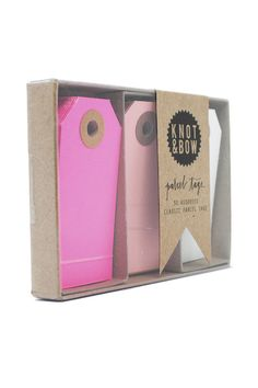 Go bright this year! Pink Parcel Tag Trio <3
