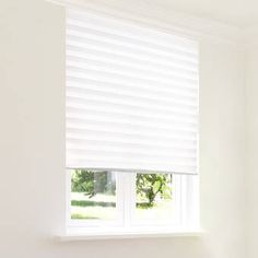 Symple Stuff Cordless Semi-Sheer Refresh White Pleated Shade Blind Size: x Paper Blinds, Vinyl Blinds, Blackout Roman Shades, Tie Up Shades, Sun Shades, Solar Shades, Light Filter, Shades Blinds, Blinds For Windows