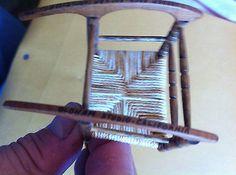 Miniature-Dollhouse-Ladder-Back-Rocker-Chair-Signed-OLDHAM-STUDIO-CALIFORNIA-1