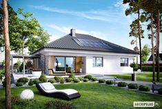 The Modern Cottage for Happy Families House Plans Mansion, Bungalow House Plans, My Home Design, Modern House Design, Beautiful House Plans, Beautiful Homes, Casa Park, One Level House Plans, Bungalow Conversion