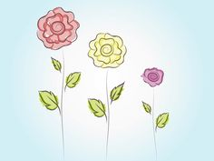 Cute Vector Flowers free