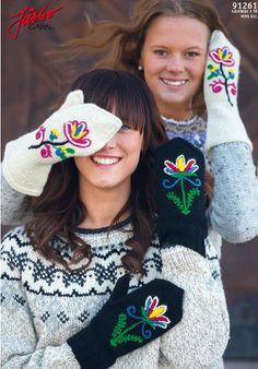 Folklore inspired gloves.