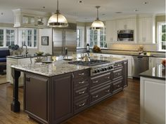 Oversize Kitchen Island With Stovetop Stove Top