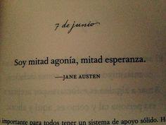 Imagen de agonia, esperanza, and jane austen