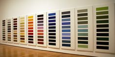"""Ten Large Color Panels,"" by Gerhard Richter, lacquer on white primed canvas"