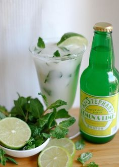 Coconut Lime Mojito- yum! Feels like summer by the pool already!