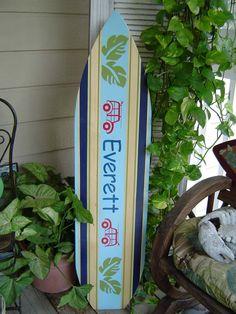 4FT SURFBOARD.  Personalized. Hawaiian Beach Wall art. Surf Decor. Wedding Guest Sign In Board for Beach Wedding. 150 Designs Unisex Style via Etsy