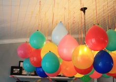 Upside Down Balloons – A Fun Party Twist! Upside Down Balloons – A Fun Party Twist!,Kids Party Ideas Upside down balloons = cost effective, cute party decorations! Party Box, Art Party, Party Time, Hanging Balloons, Blowing Up Balloons, Helium Balloons, Helium Tank, White Balloons, Buy Helium