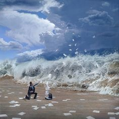 SPOTLIGHT: Joel Rea's Captivating High-Velocity Oil Paintings What a true gift! Australian artist Joel Rea creates cinematic paintings pulsing with the intensity of the wind and ocean waves. Amazing Paintings, Realistic Paintings, Amazing Art, Oil Paintings, Acrylic Paintings, Art Visionnaire, Blog Art, Surrealism Painting, Artist Painting