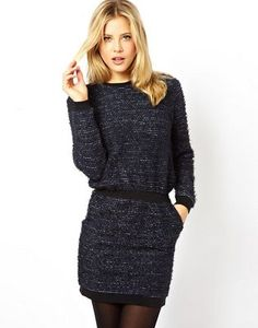 ASOS Jumper Dress With Waist Band