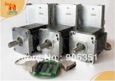 600.75$  Buy now - http://aliys3.worldwells.pw/go.php?t=714379958 - Cheap CNC! Wantai 3 Axis Nema 42 Stepper Motor 110BYGH99-001 1700oz-in+Driver DQ2722M 220V 7.0A 300Micro CNC Plasma Embriodery