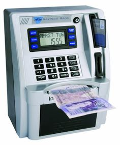 Childrens Silver ATM Savings Bank