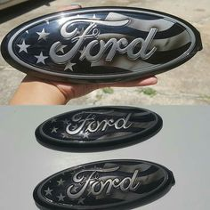 """Another set of 9"""" custom painted ford oval emblems for Jason @mccalvinj1 to his son. Thanks buddy...hope you love em. Follow . Share . Like #ford #fordracing #focus #f150 #f150 #f150 #mustang #explorer #expedition #superduty #usa #flag #ranger #powerbyford #302 #5.0 #ecoboost #fordtough #fordtruck"""