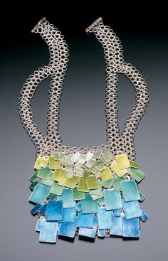 Shava Lena Lawson Sounds of the Season: Spring Sterling silver, fine silver, enamel; sifted. blanked