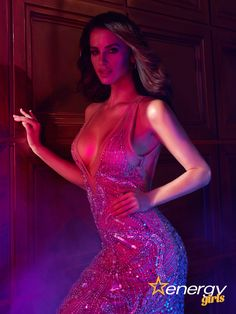 Diva in shiny dress #energygirls #luxury #party #partydress