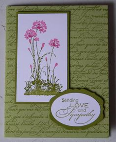 Serene Sympathy Card by LAM Creations - Cards and Paper Crafts at Splitcoaststampers